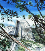 Half Dome Painting Prints - Half Dome in the Late Afternoon Print by Kate Peper