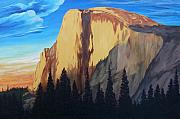 Half Dome Painting Prints - Half Dome  Print by Keith Higgins