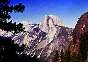 Yosemite National Park Digital Art - Half Dome Landscape by David Lee Thompson