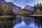River Framed Prints - Half Dome Near Sunset Framed Print by Jim Dohms
