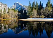 "\""reflection Photographs\\\"" Posters - Half Dome Reflection 1 Poster by About Light  Images"