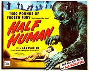 1950s Movies Art - Half Human, Aka Half Human The Story Of by Everett