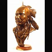 Featured Sculpture Originals - Half King Tanaghrisson by Bryan Rapp
