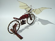 Wheels Sculptures - Half Light by Jim Casey