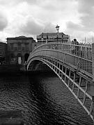 Halfpenny Prints - halfpenny Bridge Print by Colin O neill
