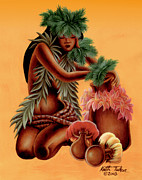 Grass Skirts Posters - Halia    Poster by Keith Tucker