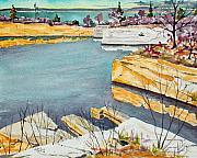 Halibut Point Quarry - Rockport Print by Chris Coyne