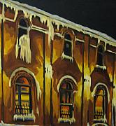 Moody Paintings - Halifax Ale House in Ice by John Malone