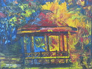 Fries Paintings - Halifax public gardens by Marshall Desveaux