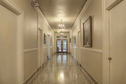 Building Feature Framed Prints - Hall Corridor. Built In 1927 Framed Print by Douglas Orton