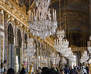 Palace Of Versailles Prints - Hall of Mirrors at Palace of Versailles France Print by Jon Berghoff