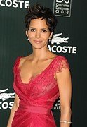 Red Dress Posters - Halle Berry At Arrivals For 13th Annual Poster by Everett