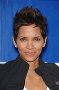 Halle Berry Prints - Halle Berry In Attendance For 18th Print by Everett