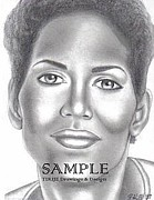 Flyers Drawings - Halle Berry by Rick Hill