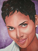 Portraits By Timothe Framed Prints - Halle Berry Framed Print by Timothe Winstead