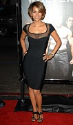 Little Black Dress Prints - Halle Berry Wearing A Herve Leroux Print by Everett