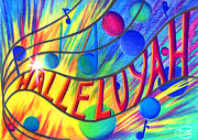 Hebrew Drawings Originals - Halleluyah by Nancy Cupp