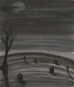 Headstones Pastels - Hallowed by Thomas Robertson II