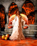 Angel Art Paintings - Halloween Angel by Jai Johnson