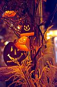 Jack-o-lanterns Photos - Halloween Decor 1 by Steve Ohlsen