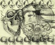 Halloween In Grunge Style Print by Michal Boubin