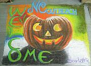 Side Pastels Prints - Halloween NCOHC Welcome Print by Scarlett Royal