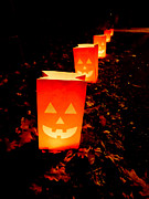Lanterns Photos - Halloween Paper Lanterns by Edward Fielding