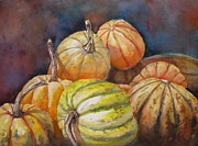 Pumpkins Painting Metal Prints - Halloween Pick Metal Print by Mohamed Hirji