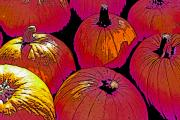 Unreal Prints - Halloween Pumpkins 3 Print by Steve Ohlsen