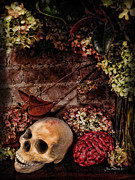 Frightening Posters - Halloween Still Life Poster by Joan  Minchak