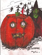 Creepy Mixed Media - Halloween The Arrival by David Peace