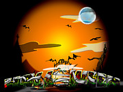 Bats Digital Art - Halloween Time by Adam Vance