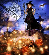 Samhain Digital Art - Halloween Toast by Carmen Waterman