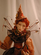 Halloween Sculptures - Halloween Witch Fairy by Bonnie Jones
