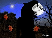 Samhain Digital Art - Halloween Witch by Morrighan Wainwright