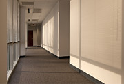 Office Space Metal Prints - Hallway of an Office Building Metal Print by Will & Deni McIntyre