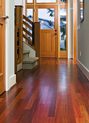 Wood Floors Posters - Hallway to Front Door Poster by Andersen Ross