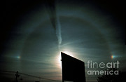 {atmospheric Conditions} Posters - Halo With Sun Dog Poster by Science Source