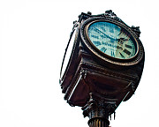 Jewelers Framed Prints - Haltoms Clock Framed Print by David Waldo