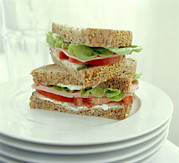 Salad Prints - Ham Salad Sandwich Print by David Munns