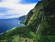 Waterfalls Rivers And Lakes - Hamakua Coast Waterfalls by Greg Vaughn - Printscapes