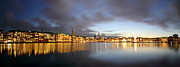Hamburg Alster Christmas Time Print by Marc Huebner