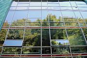 Hamburg Building Reflection Print by Eva Kaufman