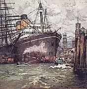 Liner Painting Originals - Hamburg Pittsburgh by Luigi Kasimir