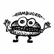 Lettuce Drawings Prints - Hamburger - Hambuger Print by Karl Addison