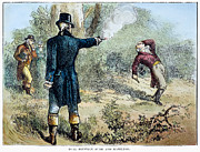 Burr Photos - Hamilton-burr Duel, 1804 by Granger