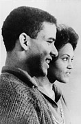Georgia University Prints - Hamilton Holmes And Charlayne Hunter Print by Everett