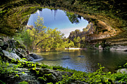 Waterfall Photos - Hamilton Pool by Lisa  Spencer
