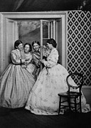 Crinoline Framed Prints - Hamilton Sisters Framed Print by General Photographic Agency
