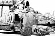 Mercedes Prints - Hamitons McLaren Print by Lyle Brown